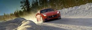 Ferrari FF thrashed on the snow