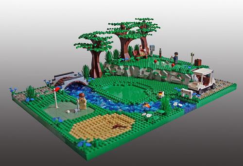 LEGO Eggy Pop golf course
