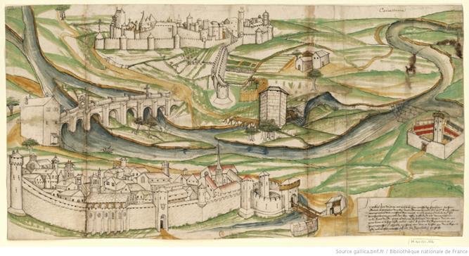 Carcassonne 1462 : [dessin] / [Non identifié]