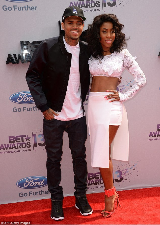 Quite the team: Chris Brown brought along collaborator and fellow song writer Sevyn Streeter
