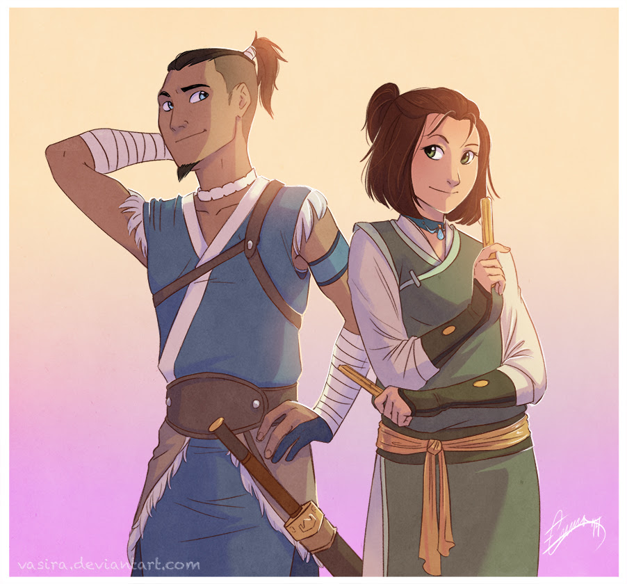 Image result for sokka and suki fan art