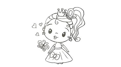 boyama yapmak icin resim ciziyorum kuecuek prenses kolay