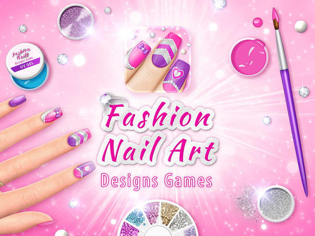 App Shopper: Fashion Nail Art Designs Game: Pink Nails ...