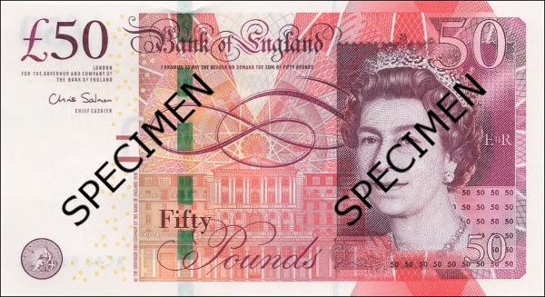 Bank of England 50 Pound
