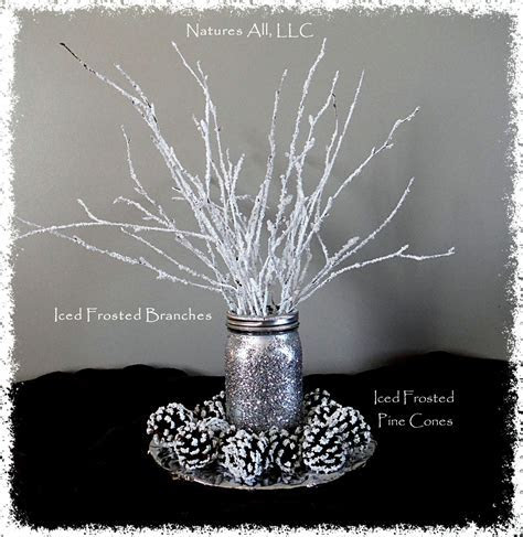 Decorative White Birch Branches/Iced Frosted Branches