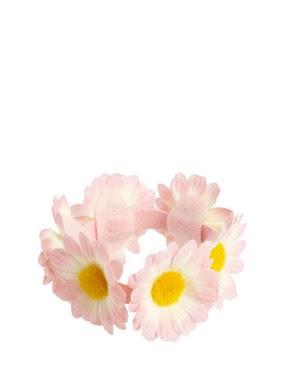 Image 2 ofRiver Island Blush Fabric Flower Bun Surround