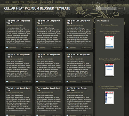40 Free Beautiful Blogger Templates, Part III