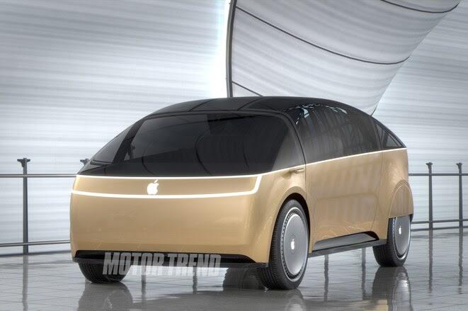 Apple Car front three quarter render