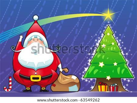funny santa claus cartoon