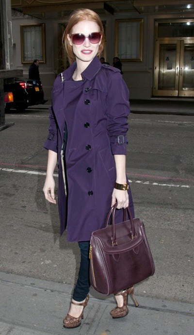 4 Jessica Chastain wearing Burberry in New York 3rd January 2013