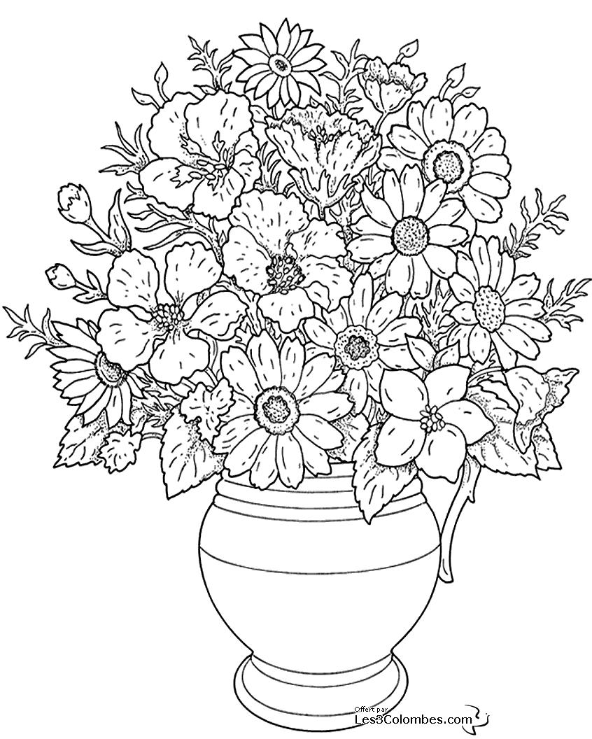 【Meilleur 50+】 Coloriage Fleur à Imprimer