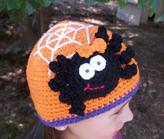 Crochet Pattern Spooky Spider Hat