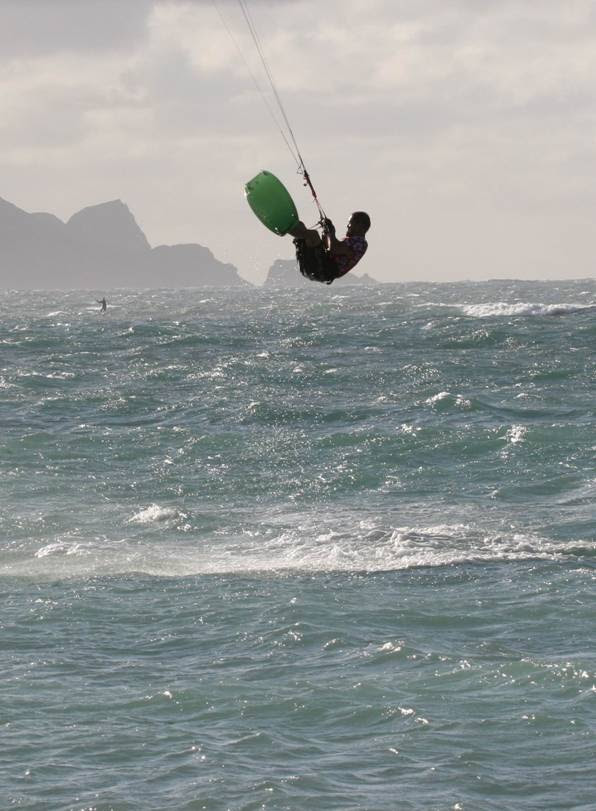Jumping at lower Kanaha, Maui