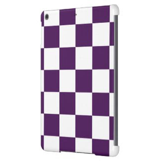 Checkered Purple and White iPad Air Covers