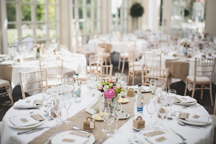 Hochzeitstischdeko Runde Tische
