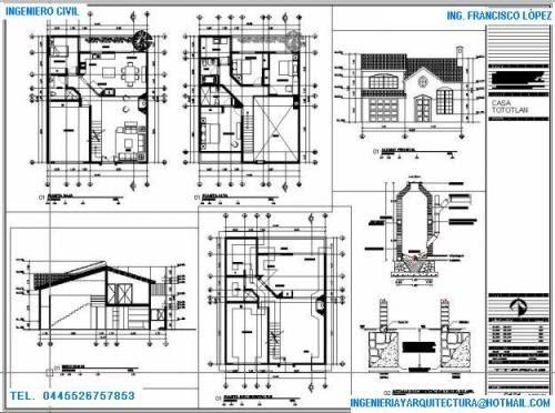 Dibujo ejecutivo planos arquitectonicos - Diseno de casas en linea ...