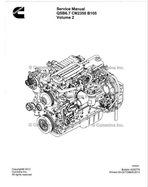 Download Cummins Engine QSB6.7 CM2350 B105 Service Manual PDF