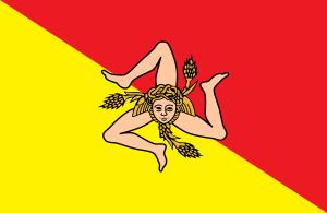 English: Flag of the Sicilian Region Italiano:...