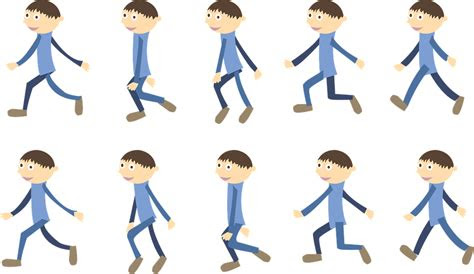 animasi  berjalan