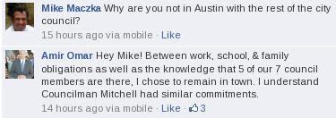 Mike Mazka Facebook comment