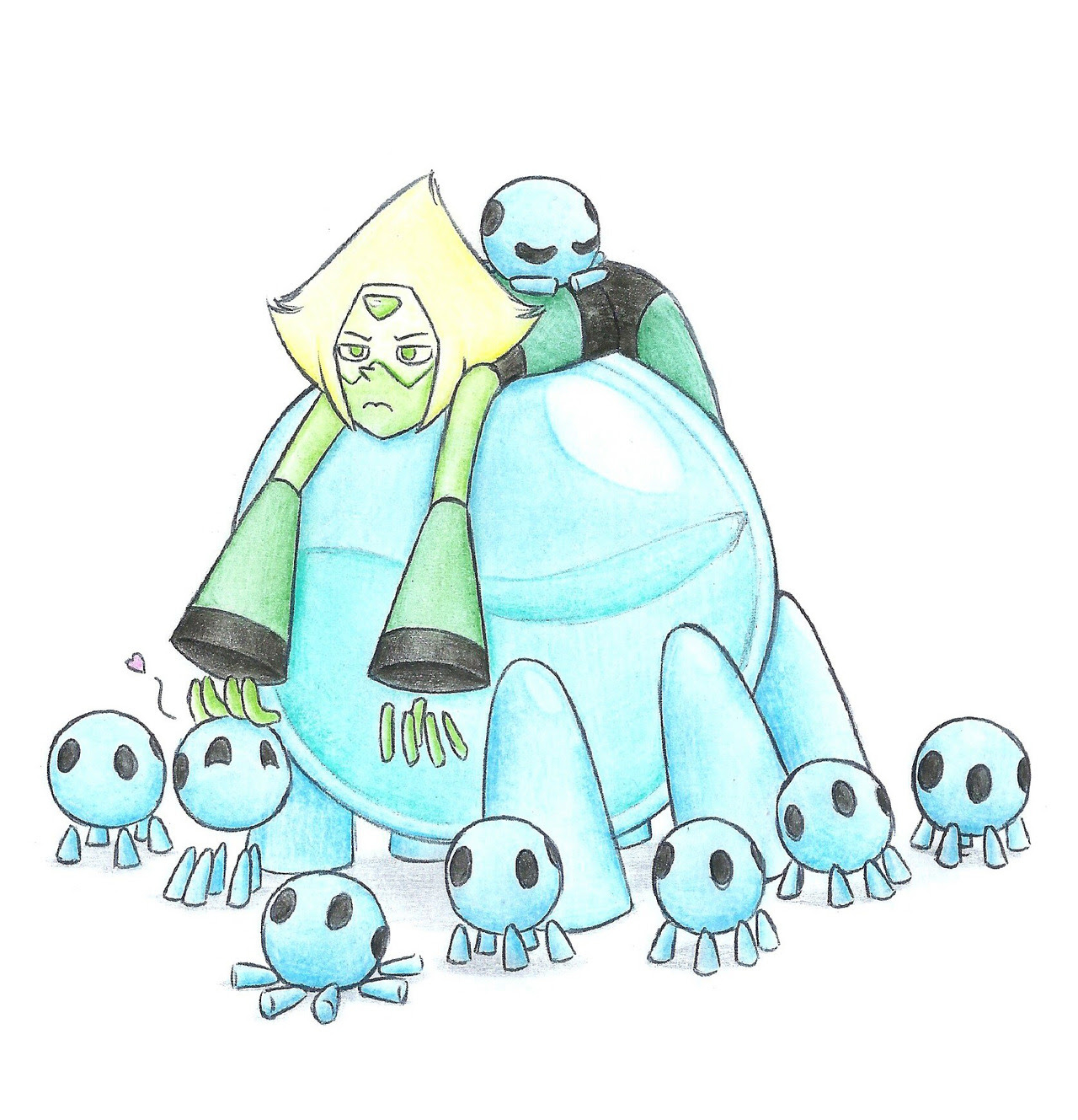 A part of me misses when peridot was a villain i specially miss her robonoids, they were so cute