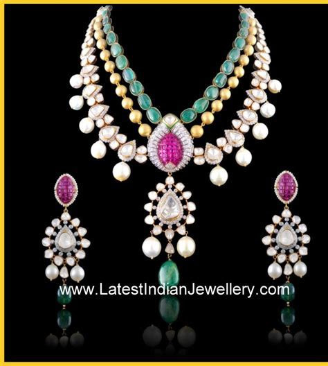 Designer Kundan Jadau Jewellery with Polki Diamonds and