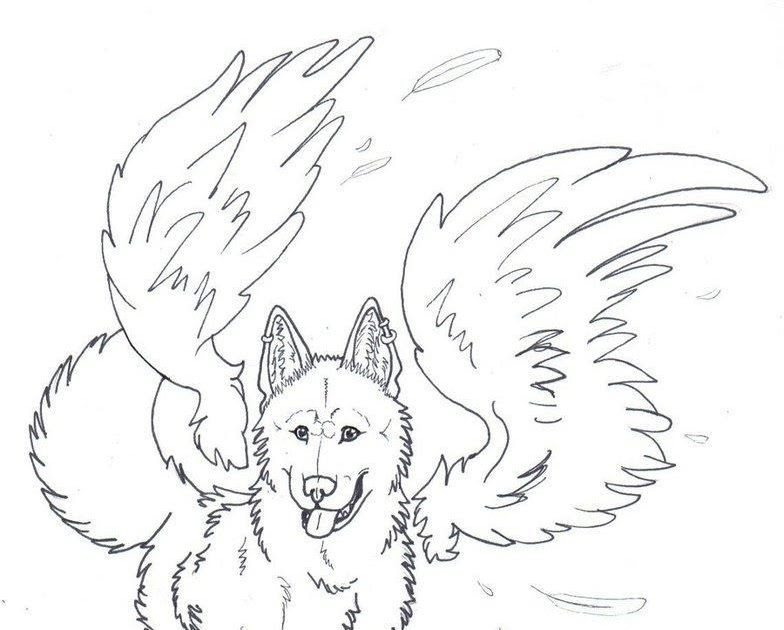 Groweling Wolf Coloring Pages - Coloring Pages Ideas