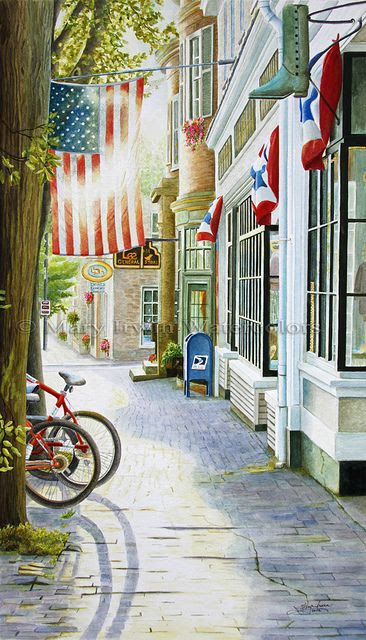 'Old Town - USA' ~ by Mary Irwin, watercolors