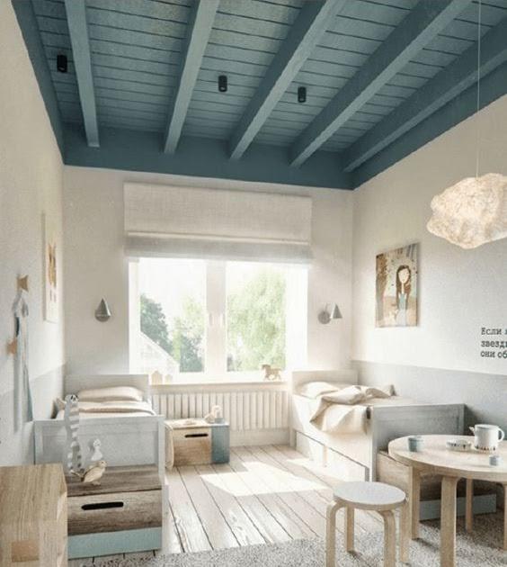 regardsetmaisons la couleur et le bois au plafond project inside. Black Bedroom Furniture Sets. Home Design Ideas