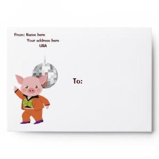 Disco pig envelope