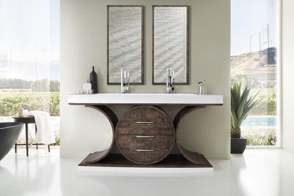 Oasis 72 Double Bathroom Vanity Olive Ash Eclipse