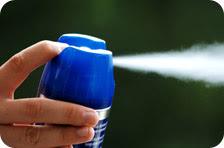Aerosol pesticide spray