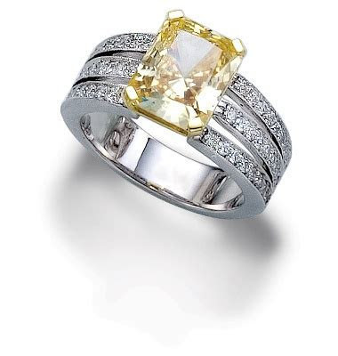 Canary Diamond Engagement Ring. Available at Houston