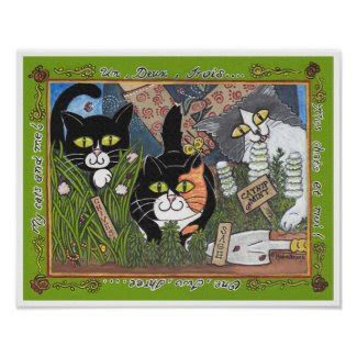 Trois Chats Poster
