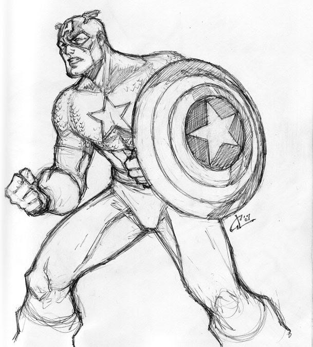 Coloriages à Imprimer Captain America Numéro 6611