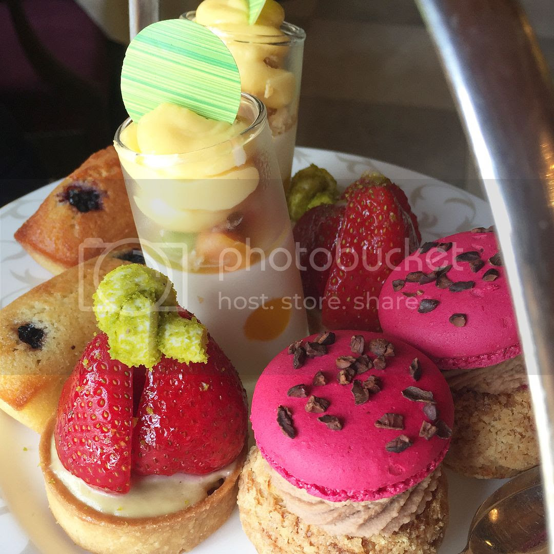 afternoon tea at Pennyhill Park