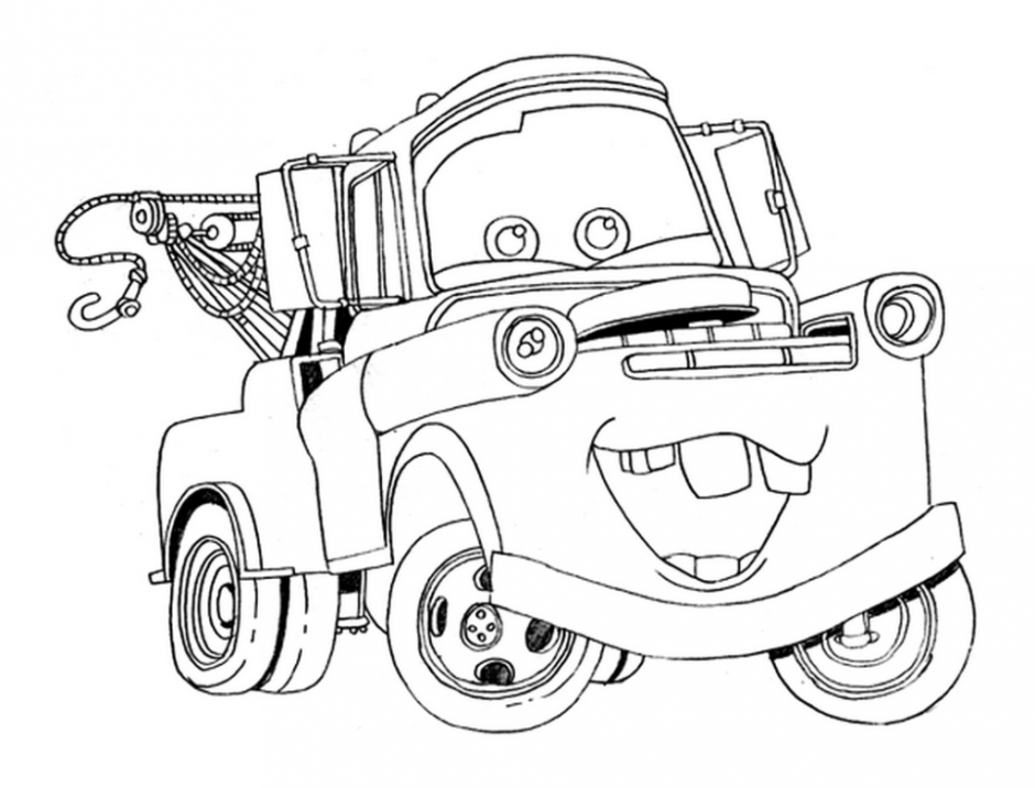 Free Printable Disney Cars Tow Mater Coloring Pages Free