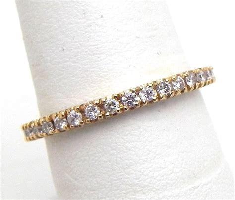 Ladies 14k Pink Gold Diamonds Eternity Style Band Ring