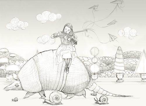 WIP - Armadillo Dream (rough sketch 5)