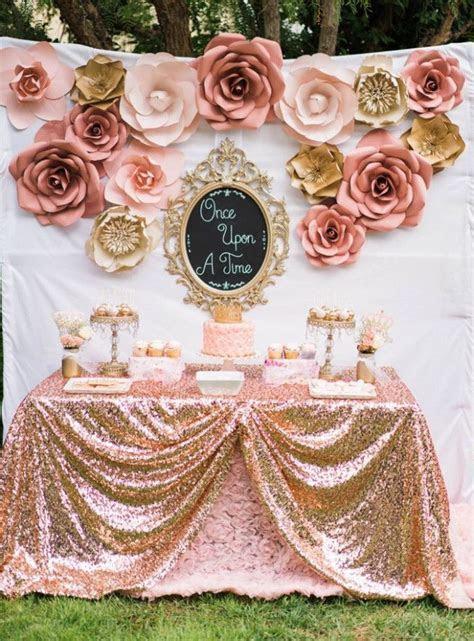 Rose Gold Wedding Backdrop Flower   Baby Shower   Pink