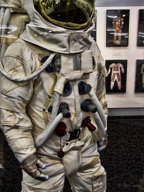 Columbia Memorial Space Center Suited for Space exhibit spacesuit