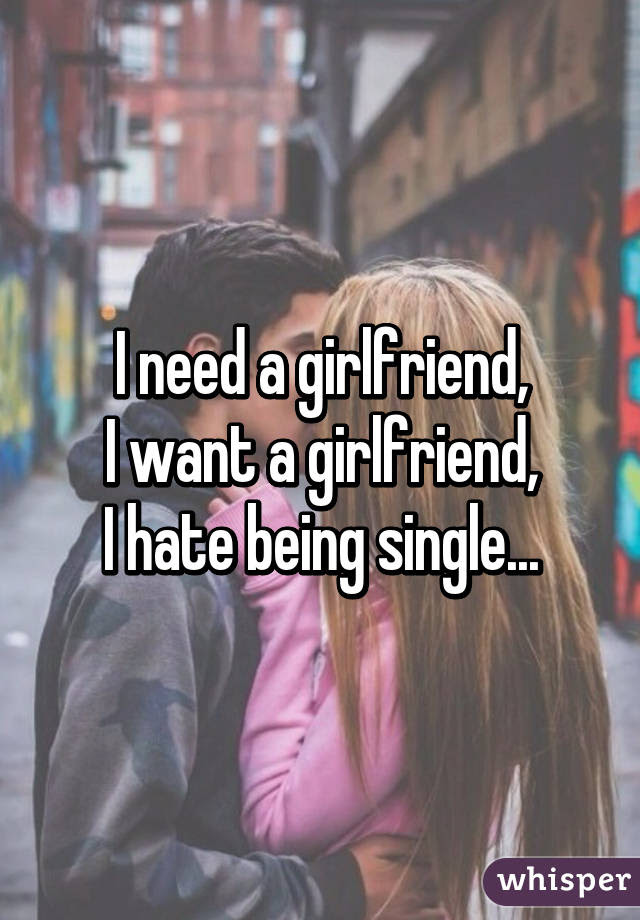 I Need A Girlfriend I Want A Girlfriend I Hate Being Single