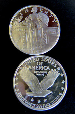 silver bullion eagle liberty round one troy ounce.