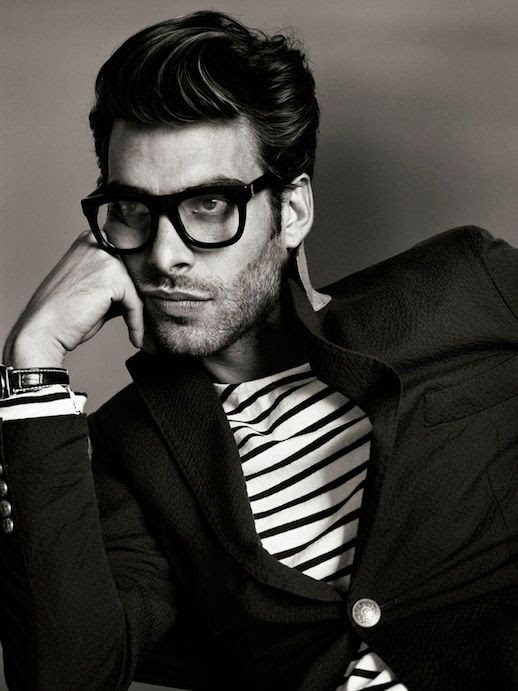 25 Stylish Hot Guys In Stripes -- Jon Kortajarena -- Eyeglasses and Beard -- Mens Style -- Via GQ France photo 16-25-Stylish-Hot-Guys-In-Stripes-Jon-Kortajarena-Eyeglasses-Beard-Mens-Style-GQ-France.jpg