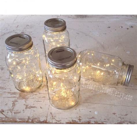 12, Mason Jar Lights Rustic Wedding Decorations Vintage