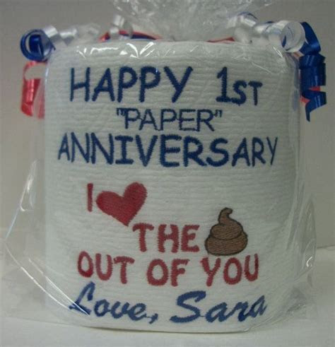 Paper Anniversary   First Anniversary for him or her