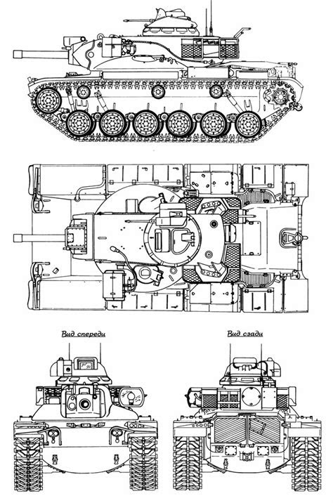M60A2 Starship Blueprint - Download free blueprint for 3D