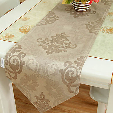 Imitation Leather Floral Light Coffee Table Runner 684986 ...