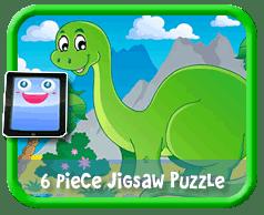 Cartoon Dinosaur 6 Piece Online jigsaw puzzle for kids