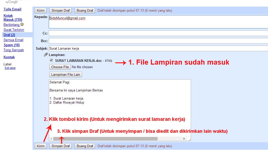 Contoh Resume Bahasa Indonesia Dan Inggris Contoh Surat Lamaran Kerja Via Email Terbaru
